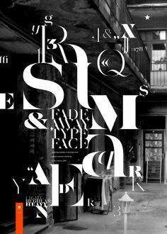 Aaron Jancso Typographic Posters II fade away typeface