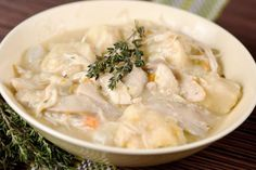 Slow Cooker Chicken and Dumplings -Monday's dinner!