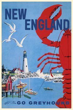 We love #NewEngland vintage posters!