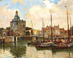 Prins Hendrikkade, Amsterdam by Willem Bastiaan Tholen (1860-1931).