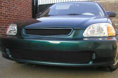 H1115-10B Honda Civic Black MX Grille Upper & Lower Insert Combo Kit Grillcraft  #Grillcraft #ChromeTrim