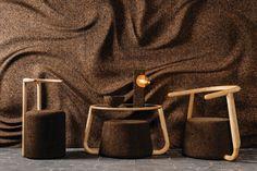 Пробковые покрытия   Gencork Nomadic Furniture, Sustainable Furniture, Sustainable Design, Luxury Furniture, Cladding Materials, Cork Wall, Industrial Chair, Industrial Design, Interior Exterior