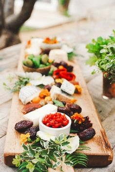 A delicious cheese plate! Perfect for holiday parties.