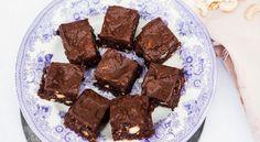 Raw brownie med chokladfrosting