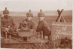 Imperial German artillery soldiers, World War 1.