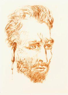 "dappledwithshadow: "" Van Gogh, by Salvador Dalí """
