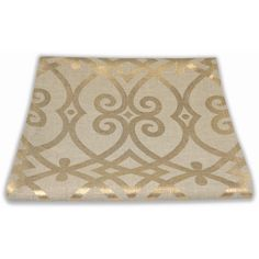 Gold and Beige Table Runner, Table Runner Christmas Holiday Fall... ($58) ❤ liked on Polyvore featuring home, kitchen & dining, table linens, autumn table linens, holiday table linens, ivory table linens, xmas table linen and thanksgiving table linens