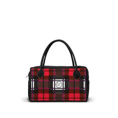 NEOM-GR-TP-RED - Borsa 24h in neoprene con zip. - una borsa realizzata da LOOMLOOM - made in Italy.