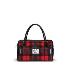 NEOM-GR-TP-RED - Borsa 24h in neoprene con zip. - una borsa realizzata da LOOMLOOM - made in Italy.