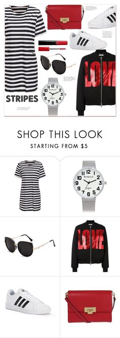"""""""Stripes"""" by mycherryblossom ❤ liked on Polyvore featuring Givenchy, adidas, Lodis and Giorgio Armani"""