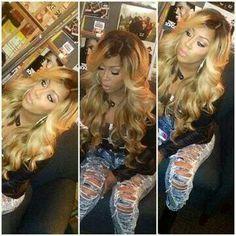 K. Michelle blonde hair