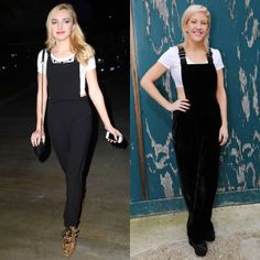 Black Overalls with White Crop Tops Are the New Big Thing—Just Ask Peyton List and Ellie Goulding