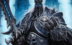 Télécharger fonds d'écran WoW, 4k, le Roi-Liche, l'art, le Monde De Warcraft