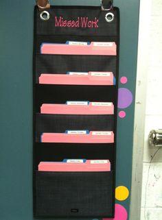 Hang Up Organizer - Missed school work organization   www.mythirtyone.com/trishr
