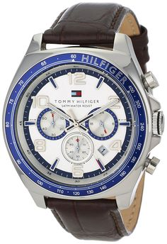 Tommy Hilfiger Men's 1790937 Stainless Steel Watch with Leather Band ** Read more reviews of the watch by visiting the link on the image.