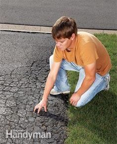 Repave Your Driveway for Instant Curb Appeal How to maintain asphalt driveways Asphalt Driveway Repair, Blacktop Driveway, Asphalt Repair, Heated Driveway, Driveway Border, Diy Driveway, Driveway Landscaping, Driveway Ideas, Brick Driveway