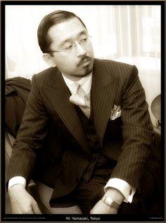 Mr Yamazaki in 1930's inspired suit cut by Hideki Okisaka of Tokyo from vintage cloth from Thornton Jones of Huddersfield.