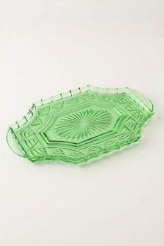 bottle green bath dish $58
