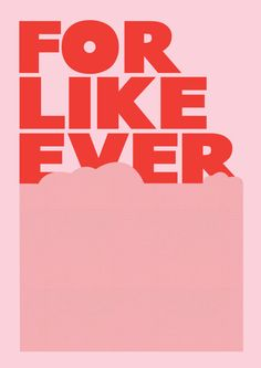 """For Like Ever  Retro Style Typography Poster  by wordsdesignlove, $18.79 16.5""""X11.7"""""""