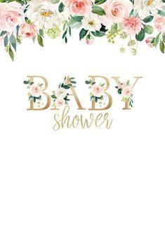Tarjetas Baby Shower Niña, Invitaciones Baby Shower Niña, Idee Baby Shower, Unisex Baby Shower, Baby Shower Invites For Girl, Floral Baby Shower, Baby Boy Shower, Baby Showers, Baby Shower Templates