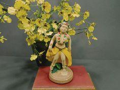 Polynesian dancer  vintage chalkware. Figurine  by GUTTERSNIPES