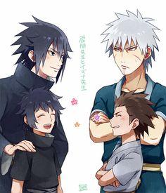 The Students. Izuna and Kagami Uchiha. Tobirama Senju and Hirazen.