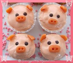piggy cupcakes