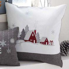 Cojines navideños decorados con fieltro - #Cojines #con #decorados #fieltro #navideños