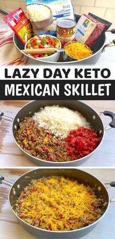 Keto Carbs, Low Carb Keto, Low Carb Recipes, Diet Recipes, Cooking Recipes, Healthy Recipes, Rice Recipes For Dinner, Mexican Food Recipes, Keto Food List