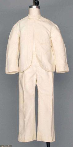 Boy's Summer Suit (image 1) | 1870-1880s | cotton pique | Augusta Auctions | April 9, 2014/Lot 54