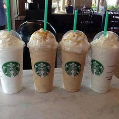 Starbucks Frappuccinos...particularly a Venti Carmel w/ extra shot!