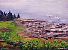 THE COAST OF MAINE USA BY Www.paulcrimifinearts.com in Painting by Paul Crimi