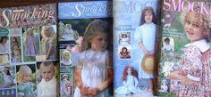 Smocking & Embroidery Magazines  BULK BUY 4 books No.s 20,23,35,37 inc.patterns