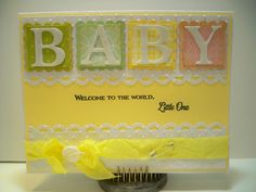 Little Scrap Pieces: Baby Welcome to the world Little one