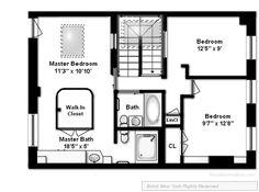 walk-in closet/bathroom/bedroom layout idea