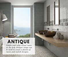 The Antique range is a premier shabby-chic choice for the #bathroom and #kitchen, fusing rustic styles with cool retro vibes. Free sample available... (http://www.directtilewarehouse.com/antique-wall-tiles-white-tiles/)
