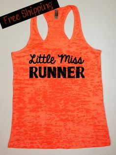 Fitness Workout Tank...Little Miss Runner by BlessonsApparel on Etsy, $26.00