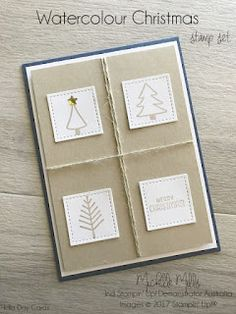 Michelle Mills - Ind. Stampin' Up! Demonstrator Brisbane, Australia. FB: Hello Day Cards. 2017 Stampin' Up! Holiday Catalogue. Watercolor Christmas & Seasonal Chums stamp sets.