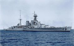 Extremely cool color footage of the HMS Hood, the last battlecruiser built for the Royal Navy. She was the only one of the Admiral-class battlecruisers, Capital Ship, Hms Hood, Naval History, Military History, History Online, Navy Ships, Aircraft Carrier, Royal Navy, Yachts