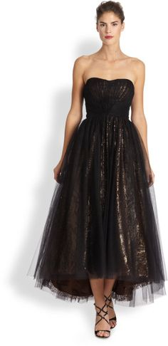 Strapless Tulle Ballerina Gown - I NEED THIS IN LIGHTER TONES
