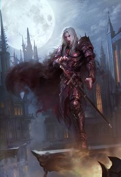 Vampire by gongcheng | NOT OUR ART - Please click artwork for source | WRITING INSPIRATION for Dungeons and Dragons DND Pathfinder PFRPG Warhammer 40k Star Wars Shadowrun Call of Cthulhu and other d20 roleplaying fantasy science fiction scifi horror location equipment monster character game design | Create your own RPG Books w/ www.rpgbard.com