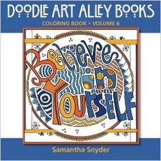 Quote Coloring Books from Doodle Art Alley!