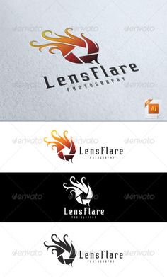 Graphic - Logo Templates - ePublishing - Web Elements - Vectors: Lens Flare Photography Logo More Texts are fully e...