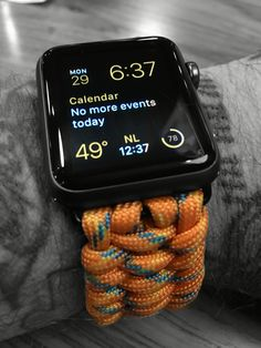 awesome, military grade paracord band for the Apple Watch. get it at http://watchshoppe.com