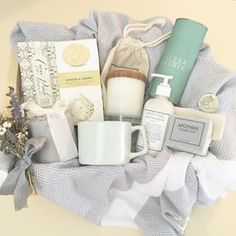 Loved and Found custom spa gift. Curated gift box.