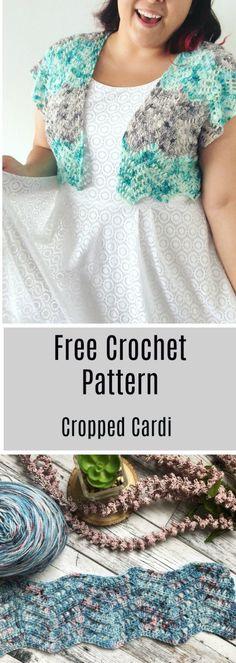 Cropped Cardi Crochet Pattern