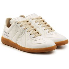 Maison Margiela Replica Paper Sneakers (845 CAD) ❤ liked on Polyvore featuring men's fashion, men's shoes, men's sneakers, white, mens white sneakers, maison margiela men's shoes, maison margiela men's sneakers and mens white shoes