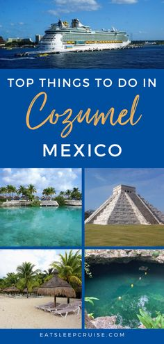Cozumel, Mexico is an exciting destination and a popular cruise port for Mexican cruise vacations. If you plan to visit, you may be overwhelmed by the choices of things to do. From the beaches and resorts to local food, shopping and culture, you can find something for everyone. Check out this post for our secrets about what to do in Cozumel, and don't forget your camera for photography and pictures! #Cozumel #Mexico #MexicanVacation #CruiseVacation #Excursions Cruise Excursions, Cruise Destinations, Cruise Port, Cruise Vacation, Vacations, Cozumel Mexico, Mexico Vacation, Mexico Travel, Best Honeymoon