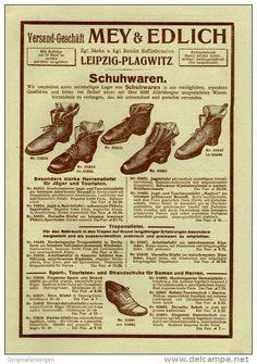 Original-Werbung/Inserat/ Anzeige 1913 - 1/1 SEITE - MODE/SCHUHE : MEY & EDLICH / LEIPZIG-PLAGWITZ ca. 160 x 240 mm