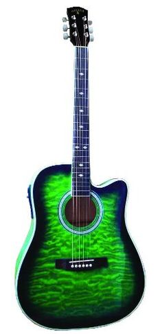 INDIANA Scout Elite IDC-GRQ Acoustic-Electric Guitar - Green